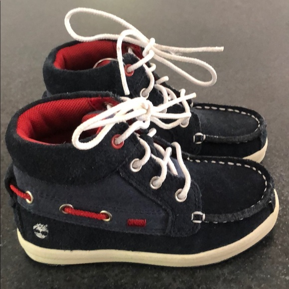 Timberland high top boat shoes